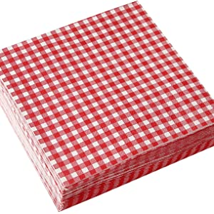 Disposable Napkins Buffalo Checkered Plaid Pattern for Picnic Barbecue