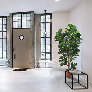 Living Room Artificial Fiddle Leaf Fig Tree