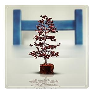 red jasper gemstone money tree bonsai