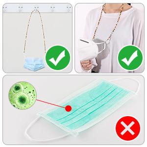 chain mask holder for women