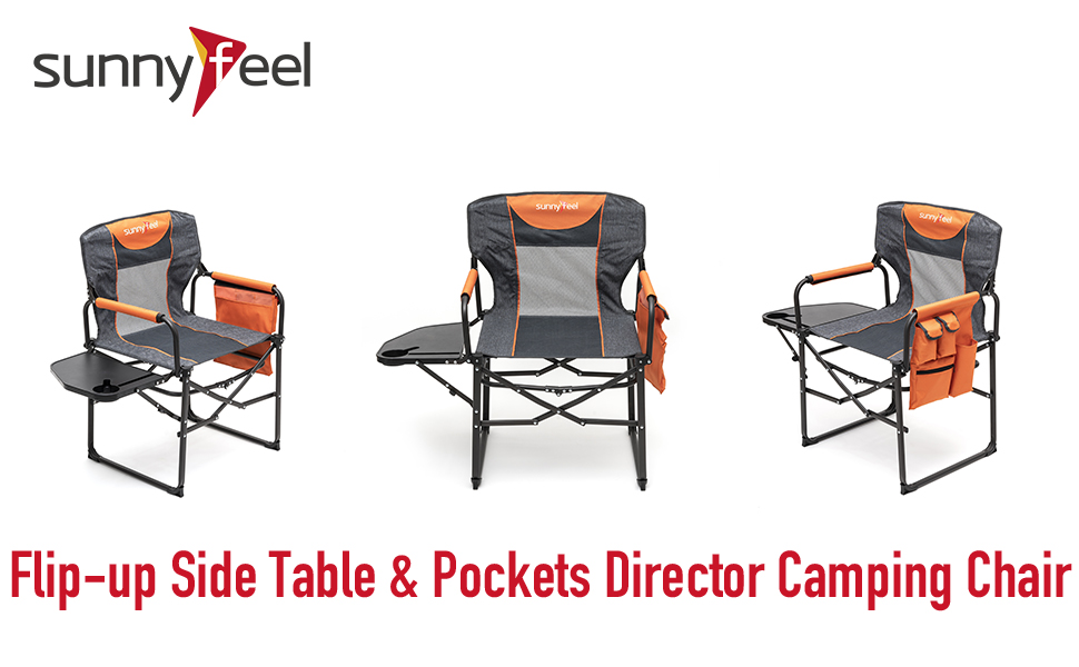 Sunnyfeel, Camping Chair, Oversized, Heavy Duty, Lightweight, Low, Padded, Rocking, Director Chair
