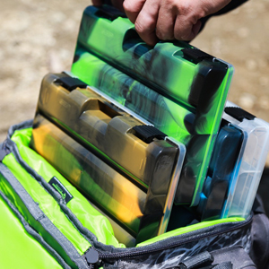 Evolution Outdoor 3500 Drift Series Fishing Tackle Tray Multi Pack of 4 Utility Box Storage Seafoam Green Colored Tackle Box Organizer with Removable Compartments 2 Latch Closure