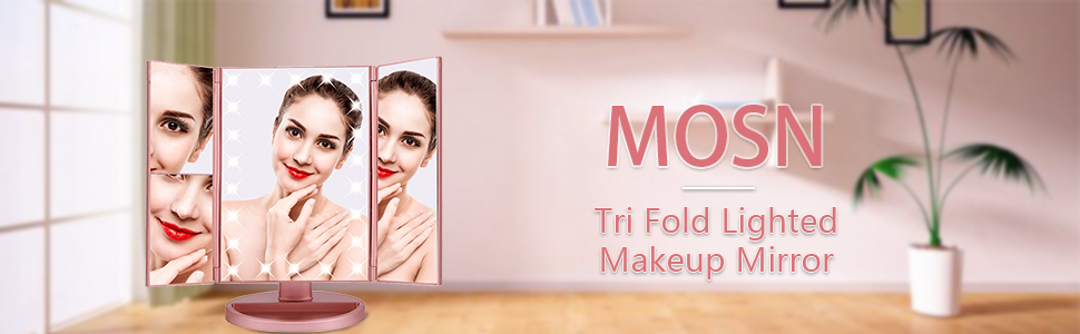 makeup mirror with lights fold lighted
