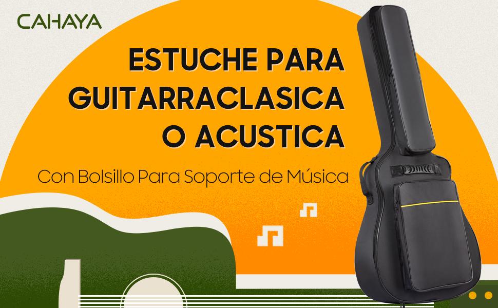 CAHAYA Funda de Guitarra Universal Acolchada con Bolsillo de Atril ...