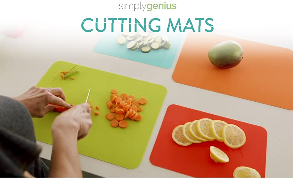 thick cutting mats for food prep kitchen slicing dicing veggies sticky non slip