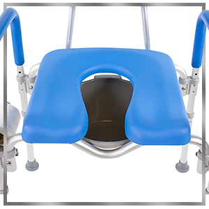 full image of dignity commode top view
