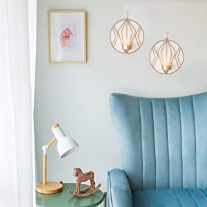 rose gold candle sconces