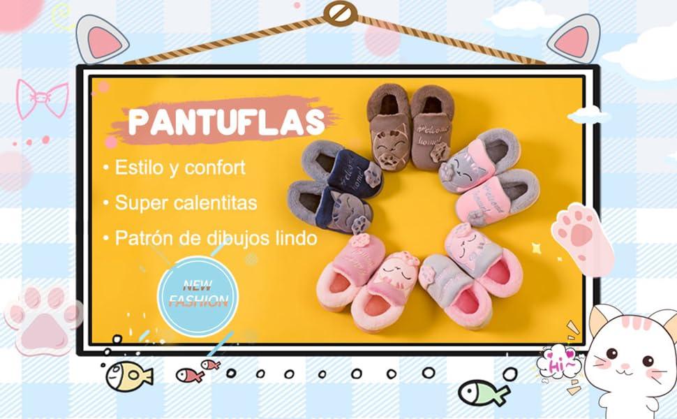 Zapatillas de Estar por Casa Unisex Niños