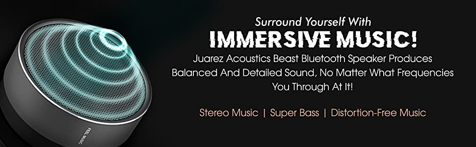 JUAREZ Acoustics Beast JAB800GM Metal Bluetooth Speaker, Gunmetal