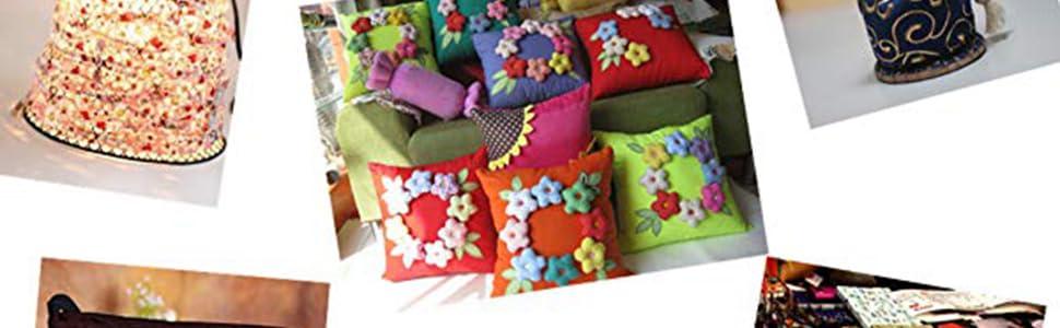 Gnognauq 7 piezas Surtido de Tela de Algodón Impresión Floral Tela de Acolchado de Algodón Patchwork Conjuntos de Costura de Tela DIY Hecho a Mano ...