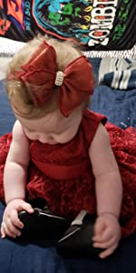 wine red baby dress