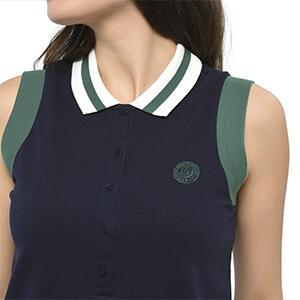 Polo sans Manches avec Logo RG ROLAND GARROS Finitions de Couleur pour Femme