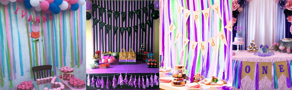 Crepe Paper Streamer for Party