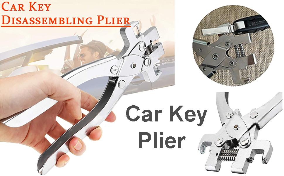 Auto Car Remote Key Blade Pin Disassembling Clamp Locksmith Pilers Tools Set