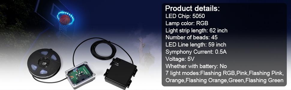 led basketball light rim