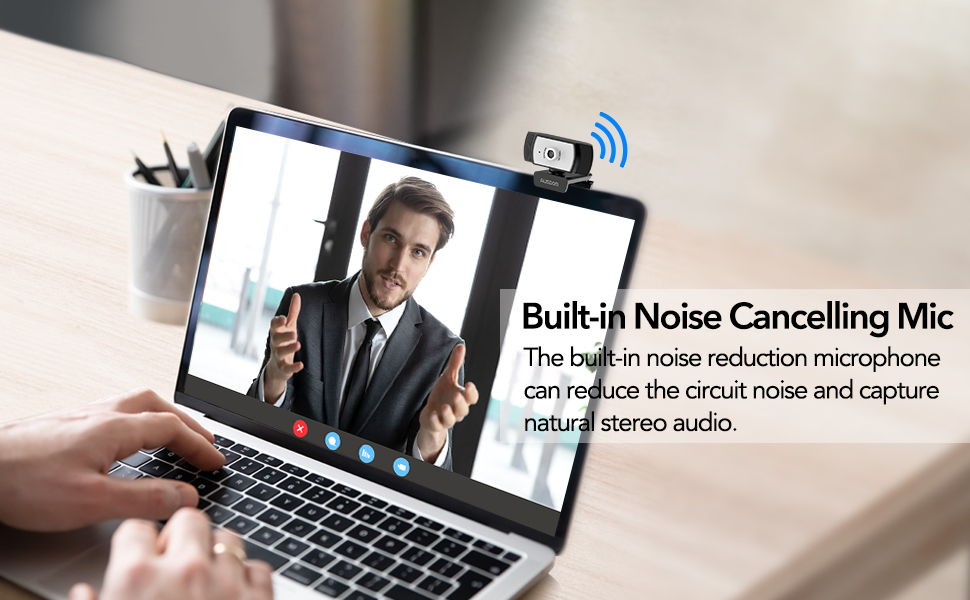 Built-in Noise cancelling microphone