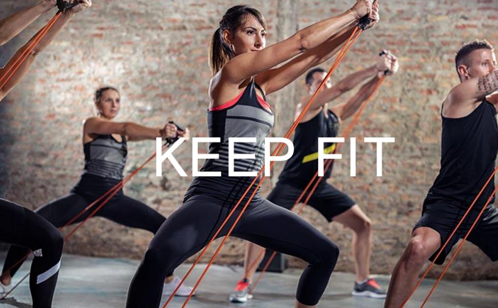 Himaly Bandas Ejercicio, Banda Elástica de Resistencia Juego de 5 Cintas Elásticas Set Cintas Elásticas Fitness Para Yoga, CrossFit, Pilates Fuerza, ...