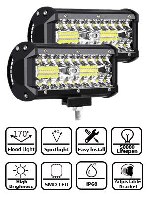 Led Arbeitslicht Bar 7 240 Watt 24000lm Led Lichtleiste Offroad Driving Arbeit Spot Beam Nebelscheinwerfer Wasserdichte Lichtleiste Für Lkw Motorrad Van Wagon Atv Suv Pickup Auto
