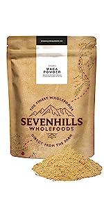 Sevenhills Wholefoods Maca Cruda En Polvo Orgánico