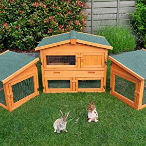 massivholz vollholz Kaninchenstall Hasen Kaninchen zooprinz