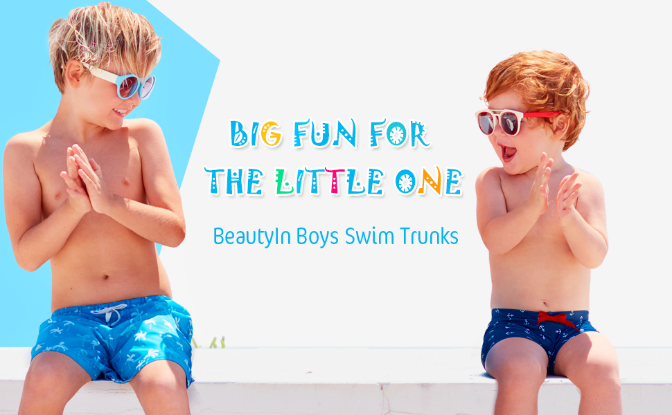 beautyin Boys Swimming Trunks Cute Animal Swim Boxer Shorts