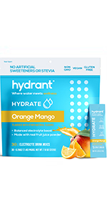 hydration packets minerals for water sugar free electrolytes electrolyte supplement