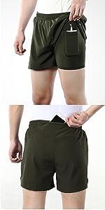 1 hidden built-in pocket and 1 back pocket