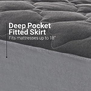 deep pocket fitted skirt