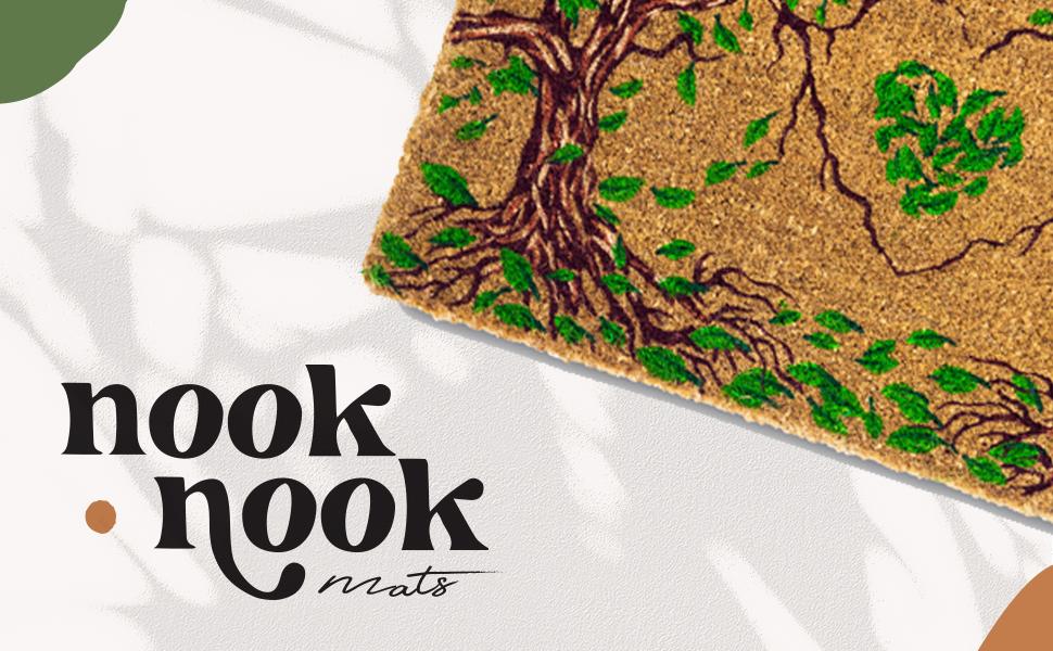 Nook Nook Logo with Shot of the doormat.