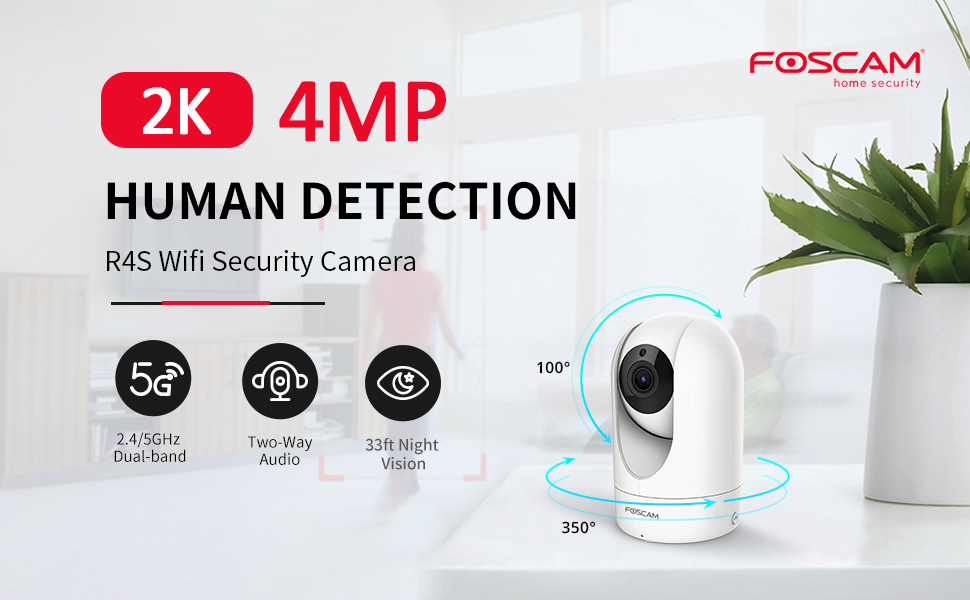 Foscam HD 1080P 2.4//5Ghz Dual Band 4 X Optical Zoom Wireless IP Security Camera