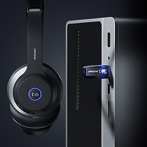 Mpow HC5 Pro Bluetooth 5.0 Headset with Charge Base