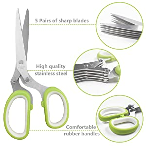 The details of herb scissors