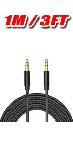 1M car audio aux cable