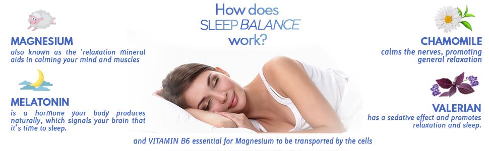 magnesium, melatonin, chamomile, valerian