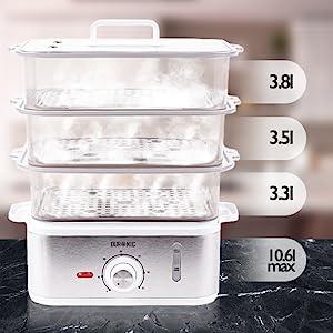 Capacité 10,6 litre - Minuteur - sans bisphénol