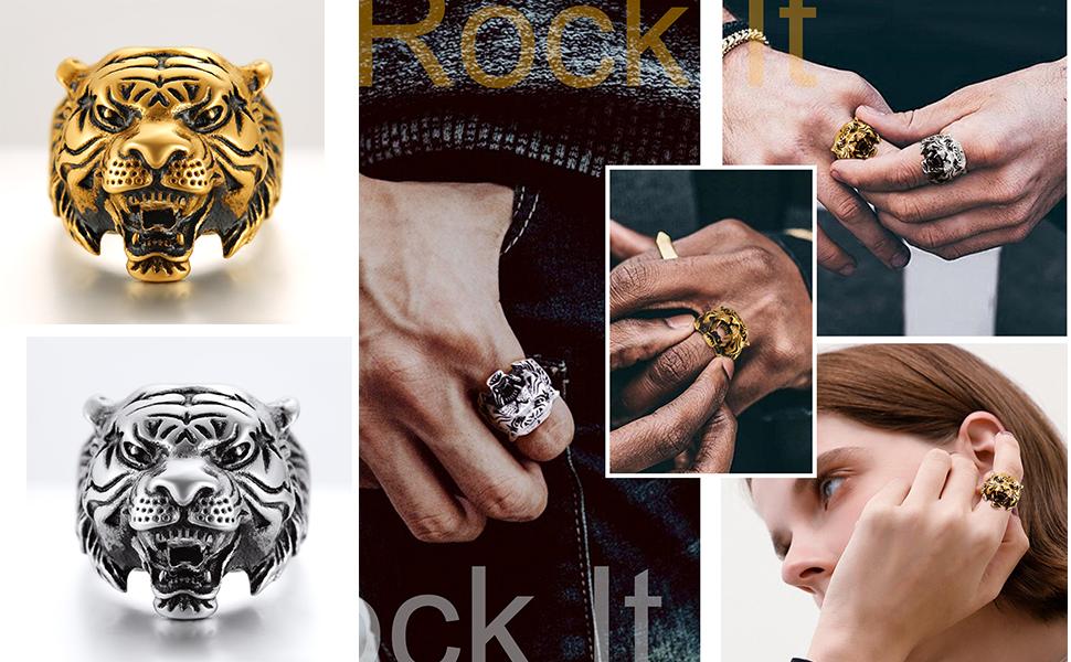 tiger rings for men
