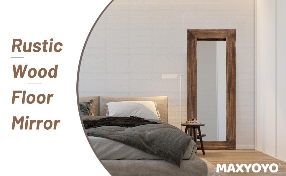 Rustic Wood Floor Mirror Full Length