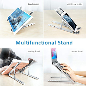 Tablet Universal Lightweight /& Ergonomic Mount for MacBook Pro//Air YOUKUKE Laptop Stand Portable Laptop Stand Desktop Notebook Holder for Desk iPad 10-15.6 inches PC Computer