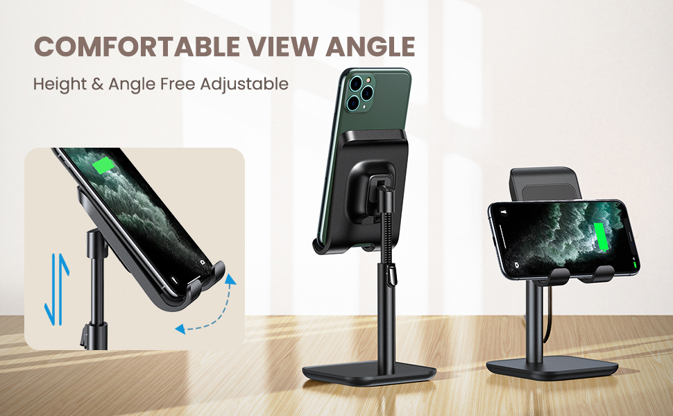 wireless charger stand for desk height & angle adjutable wireless charging station for iphone