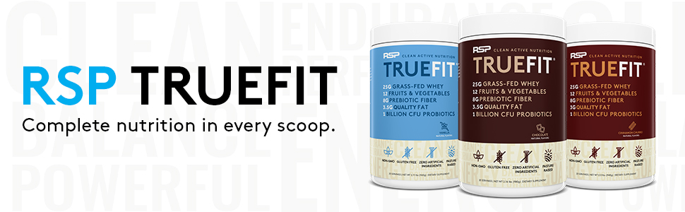 truefit meal replacement protein shake grass fed