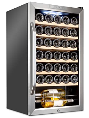 Ivation 34 bottle wine cooler with lock