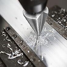 Pinava/® HSS Stufenbohrer Kunststoffe Holz 13 Stufen Konusbohrer - Passt in jedes Bohrfutter 10mm Schaft Sch/älbohrer ideal f/ür Metall Kegelbohrer /Ø 5-35mm