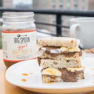 Espresso Almond Butter on a nut butter sandwich