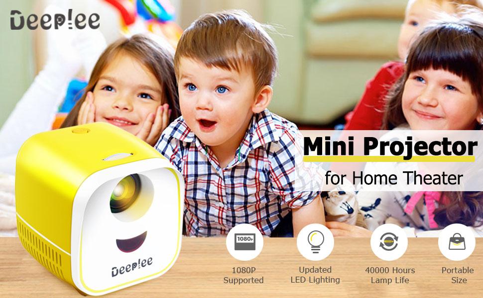 Deeplee mini projector
