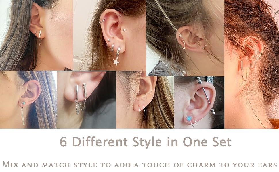 chain dangle earrings