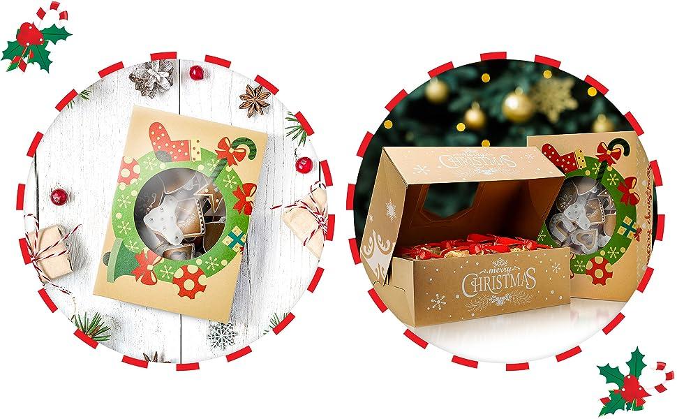 Fabulous Vintage Christmas Storage Tin Box Gift Xmas Craft Present Home Decor