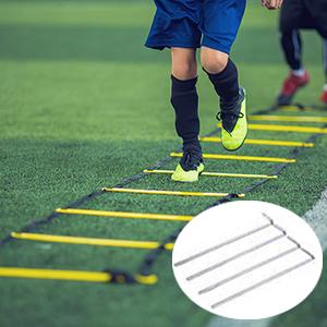 domiluoyoyo Koordinationsleiter Speed /& Agility Trainingsset Trainingsleiter Mit Robusten Sprossen F/ür Mehr Fu/ßschnelligkeit Und Koordination Bei Fu/ßball