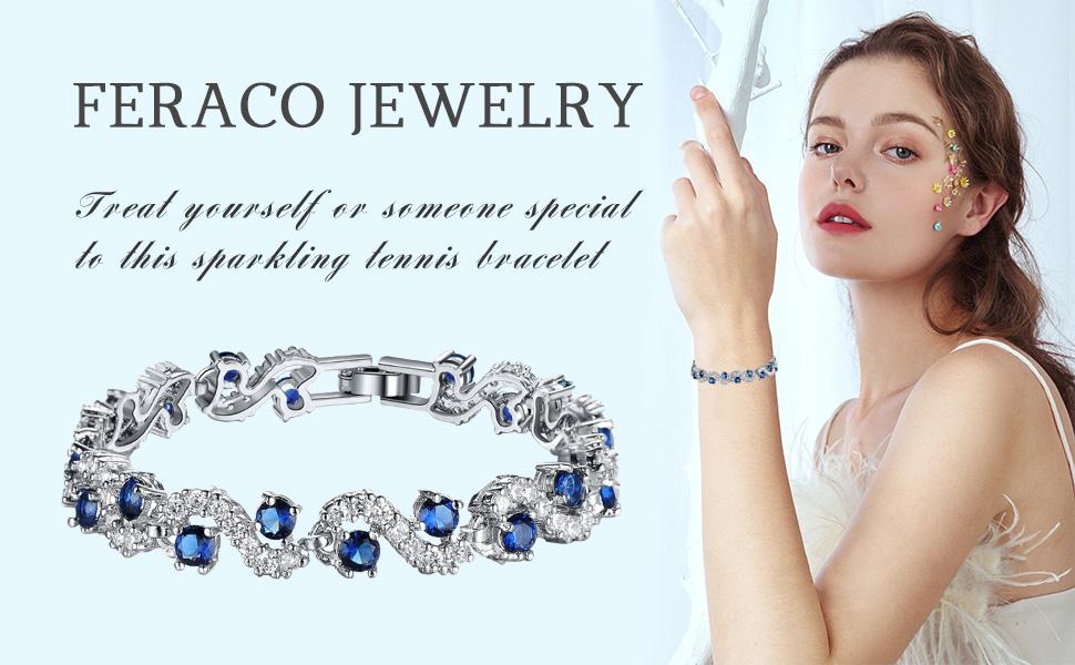blue tennis bracelet