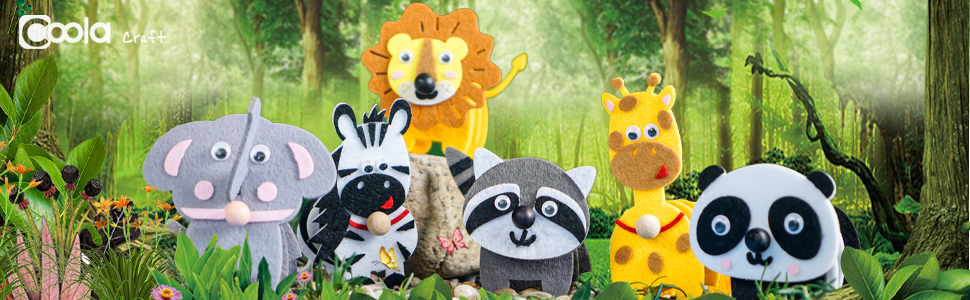 felt animals craft for kids