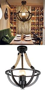 Lampa wisząca z zielonego szkła, kreatywna industrialna Edison vintage oświetlenie domu restauracja sypialnia